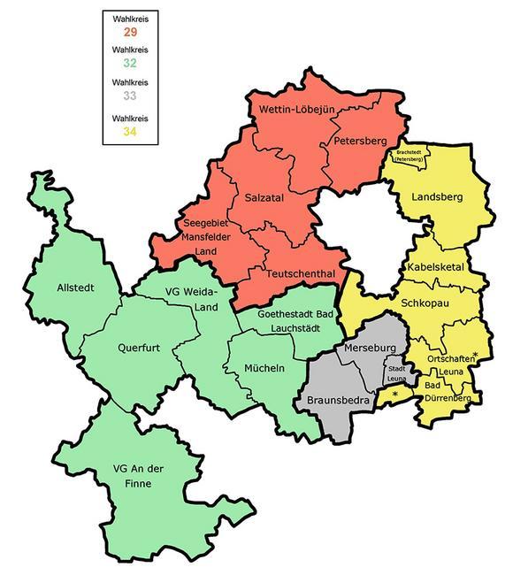 Wahlkreise LT-Wahl 2021